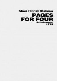 Klaus Hinrich Stahmer Pages for Four