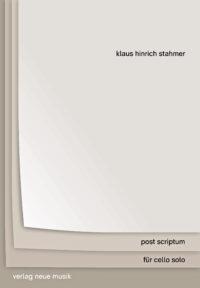Klaus Hinricht Stahmer post scriptum Cover